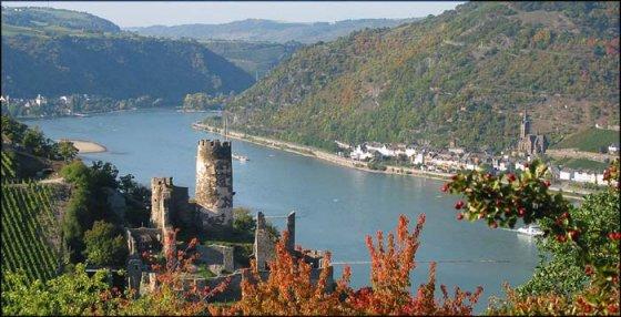 Blick auf die Burgruine Fürstenberg in Oberdiebach am Rhein